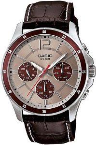 Casio Enticer Analog Grey Dial Men's Watch - MTP-1374L-7A1VDF