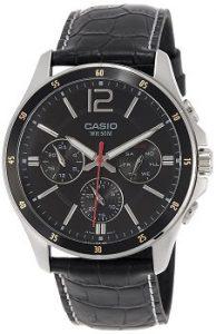 Casio Enticer MTP-1374L-1AVDF Chronograph Black Dial Men's Watch