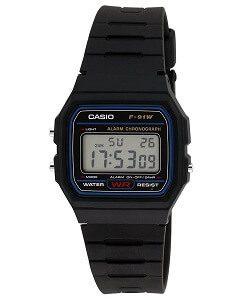 Casio Vintage Series Digital Black Dial Men's Watch - F-91W-1DG
