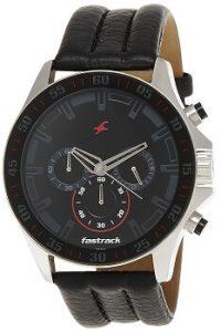 Fastrack Chrono NK3072SL06 Upgrade Analog Black Dial Men's Watch -