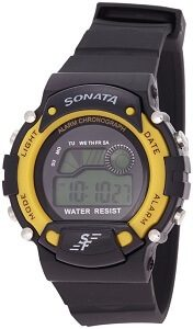 Sonata Digital Grey Dial Men's Watch - NG7982PP01J