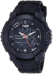 Sonata Ocean Series III Chronograph Multi-Color Dial Unisex Watch - 77027PP01J