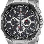 Casio Edifice Tachymeter Chronograph Black Dial Men's Watch - EF-540D-1AVDF