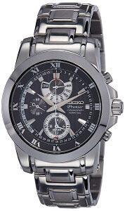 Seiko Premier Chronograph Black Dial Men's Watch - SPC161P1
