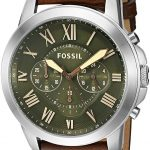 Fossil End-of-season Grant Analog Green Dial Men's Watch - FS5153