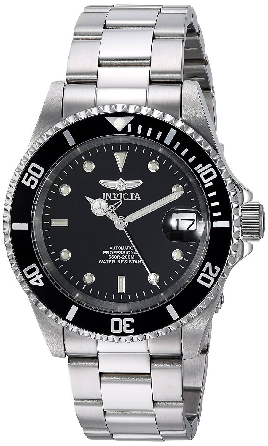 Buy Invicta Men's Pro Diver Collection Automatic Watch, Silver-Tone/Black Dial/Half Open Back and other Wrist Watches at tvjerjuyxbdmp.ga Our wide selection is eligible for free shipping and free returns.