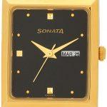 Sonata Analog Black Dial Men's Watch - 7007YM04