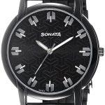 Sonata Analog Black Dial Men's Watch - 77031NM01