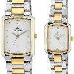 Titan Bandhan Analog White Dial Couple's Watch - NH19552955BM01