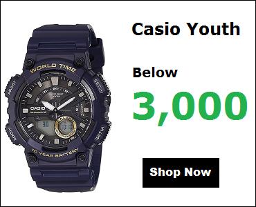 Casio Youth Watches Under 3000