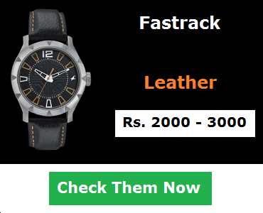 Fastrack Leather Watches Below 3000
