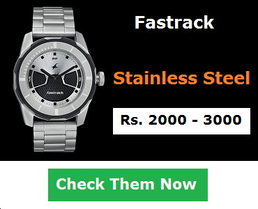 Fastrack Stainless Steel Watches Below 3000