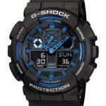 Casio GA-100-1A2DR G-Shock Analog-Digital Blue Dial Men's Watch