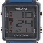 Sonata 77043PP04 Super Fibre Digital Grey Dial Men's Watch