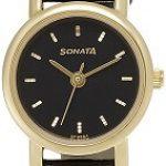 Sonata NF8976YL03J Analog Black Dial Women's Watch