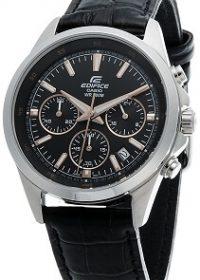 Casio Edifice Chronograph Black Dial Men's Watch - EFR-527L-1AVUDF