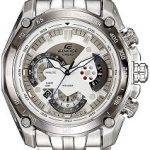 Casio Edifice Tachymeter Chronograph White Dial Men's Watch - EF-550D-7AVDF