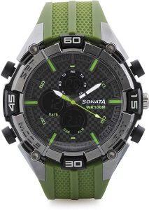 Sonata NH77028PP02 Superfibre Watch - For Men & Women