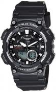 Casio Youth – Combination Analog-Digital Black Dial Men's Watch – AEQ-110W-1AVDF
