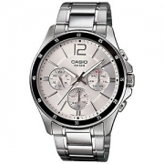 Casio Enticer Chronograph White Dial Men's Watch – MTP-1374D-7AVDF