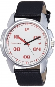 Fastrack Casual Analog White Dial Men's Watch – 3124SL01