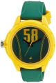 Fastrack Tees Analog Green Dial Unisex Watch – 38019PP03