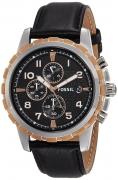 Fossil End of Season Chronograph Black Dial Men's Watch – FS4545