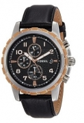 40% Off On Fossil End of Season Chronograph Black Dial Men's Watch – FS4545