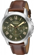 Fossil End-of-season Grant Analog Green Dial Men's Watch – FS5153
