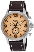 Fossil Nate Chronograph Silver Dial Men's Watch – JR1512