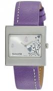 Sonata Yuva Fashion Analog White Dial Women's Watch – NF8965SL02A