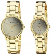 Timex Classics Analog Gold Dial Pair Watch – TW00PR196
