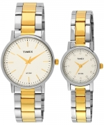 Timex Classics Analog Silver Dial Couple Watch – TW00PR197