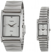 Timex Empera Analog Silver Dial Couple Watch – TI00PR17700