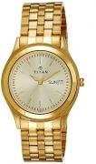 Titan Analog Gold Dial Men's Watch – 1648YM05