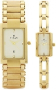 Titan Analogue Gold Dial Men's And Women's Watch – Nf12342163Ym02T