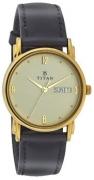 Titan Karishma Analog Champagne Dial Men's Watch – NE1445YL05