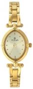 Titan Karishma Analog Champagne Dial Women's Watch – NE2419YM02