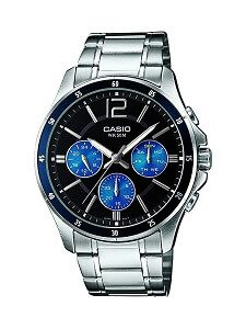 Casio Enticer Analog Black Dial Men's Watch - MTP-1374D-2AVDF
