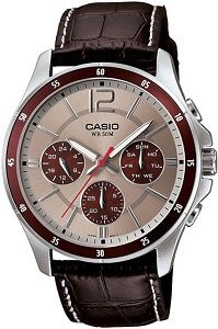 Casio Enticer Analog Grey Dial Men's Watch - MTP-1374L-7A1VDF
