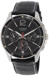 Casio Enticer MTP-1374L-1AVDF Chronograph Black Dial Men's Watch