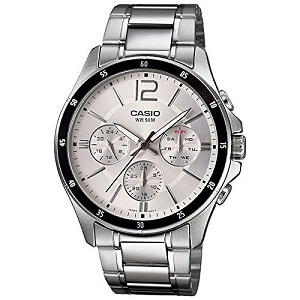 Casio Enticer White Dial Men's Watch - MTP-1374D-7AVDF