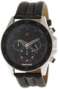 Fastrack Chrono NK3072SL06 Upgrade Analog Black Dial Men's Watch -