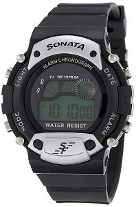 Sonata Digital Grey Dial Men's Watch - NG7982PP02J