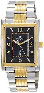 Titan Analog Black Dial Men's Watch-90024BM04