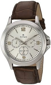 Titan Analog Silver Dial Men's Watch-NK1698SL01