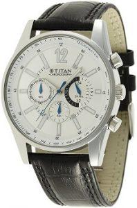 Titan Classique NE9322SL02J Chronograph Silver Dial Men's Watch