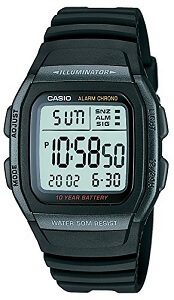 Casio Youth Black Dial Men's Watch - W-96H-1BVDF