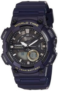 Casio Youth-Combination Analog-Digital Black Dial Men's Watch - AEQ-110W-2AVDF