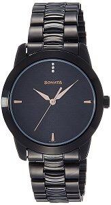 Sonata Analog Black Dial Men's Watch - NF7924NM01